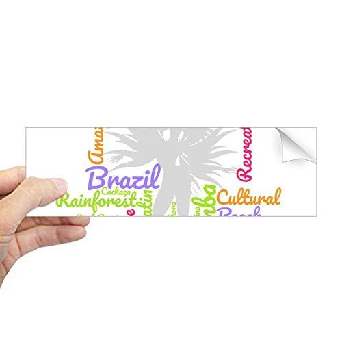 DIYthinker Adesivo retangular para para-choque da cultura de Samba do Brasil, Dança, Palavra