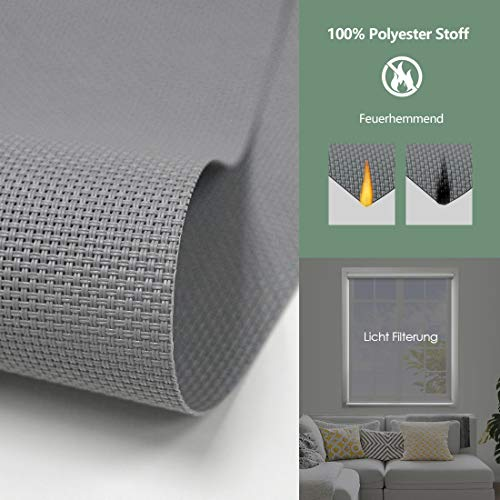 Yoolax Elektrisches Rollo 50% lichtdurchlässig (Grau)