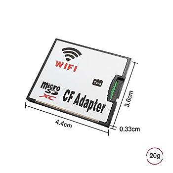 QUMOX Micro SD Card TF to WiFi CF CompactFlash Memory Card Adapter for DSLR Camera