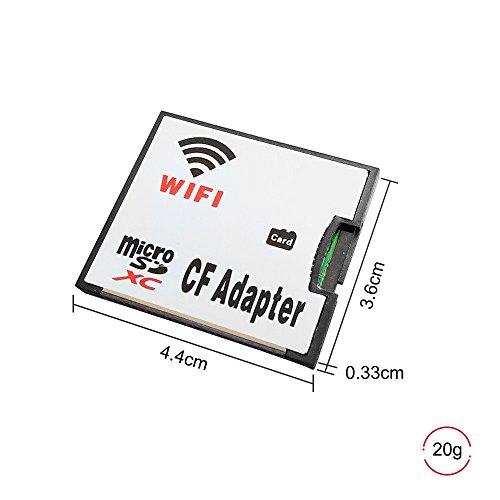 QUMOX MicroSD Karte TF zu WiFi CF CompactFlash Speicherkartenadapter für DSLR Kamera