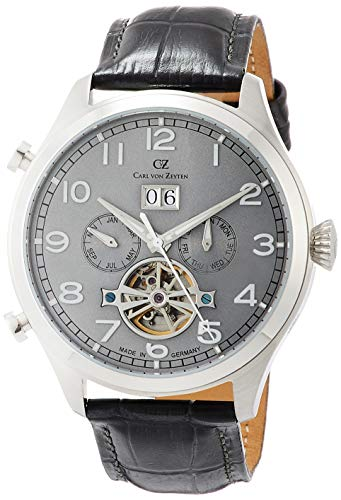 Carl von Zeyten Herren Analog Automatik Uhr mit Leder Armband CVZ0003SGY