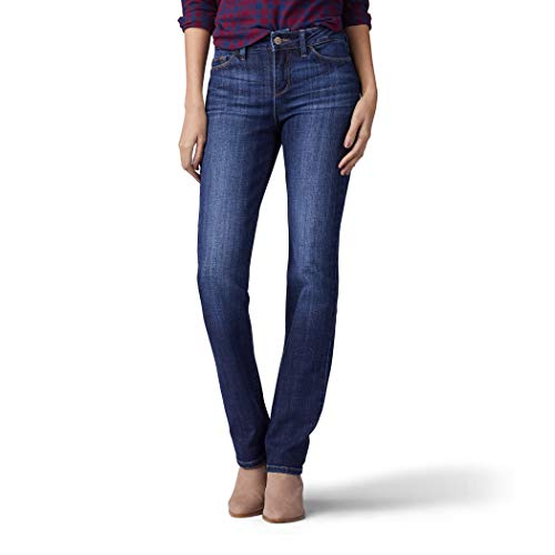LEE Women's Secretly Shapes Regular Fit Straight Leg Jean, Bewitched,14 Short