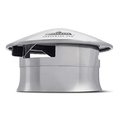 SMOKEWARE Vented Chimney Cap – Compatible with The Big Green Egg, Stainless Steel Replacement Accessory