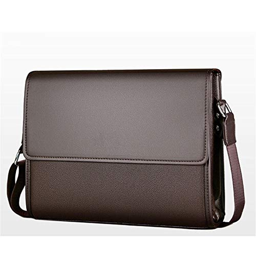 Nieuwe collectie Zakenlieden Messenger Bags vintage Leather Crossbody schoudertas for mannelijke merk Casual Men Handtassen Hippe tassen (Color : Horizontal Brown)