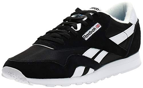 Reebok Classic Nylon Sneaker, black/white, 10