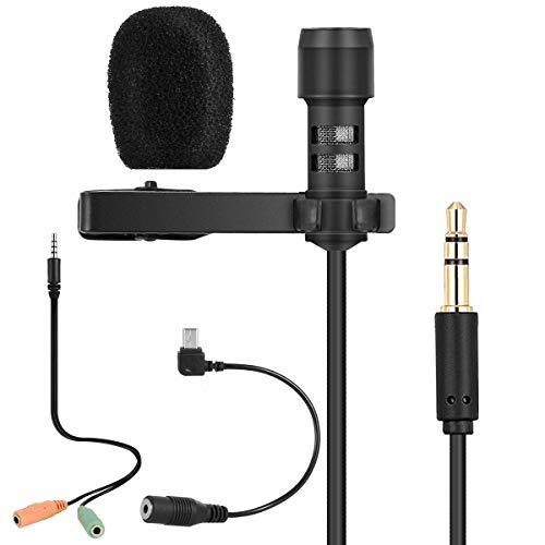 Lavalier micrófono de solapa - Micrófono de condensador ...