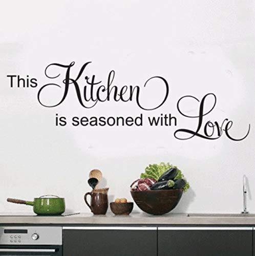 Modieuze keuken muursticker citaten Home Decor Art Engels muurschildering vinyl muurstickers tegels waterdichte lijm