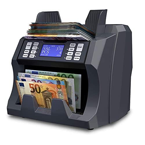 Detectalia V100 Banknotenzähler für 4 Währungen EUR, GBP, PLN, CZK - 27 x 21 x 24 cm