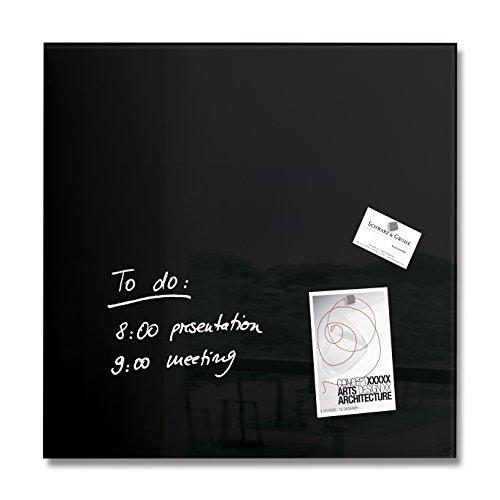 SIGEL GL110 Premium Glas-Magnetboard 48 x 48 cm schwarz / Magnettafel Artverum - weitere Farben