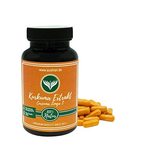 Azafran Kurkuma Extrakt Kapseln - Curcumin Gehalt einer Kapsel enspricht ca 15.000 mg Kurkuma 90 Stk