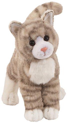 Cuddle Toys 1866 Zipper GRAY TABBY CAT Katze grau/weiß getigert Kuscheltier Plüschtier Stofftier Plüsch Spielzeug