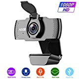 AOGE 1080P HD Webcam with Microphone,Desktop Laptop USB Computer Camera with Microphone,Built-in Microphone PC Web Cameras for Computers,Streaming,Recording,Online Courses,Video Calling Conferencing