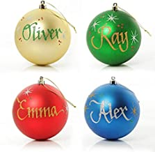 The Christmas Cart Pack | Pack of 4 | 10cm | Personalised Christmas Baubles | Customised Christmas Decoration | Ornament w...