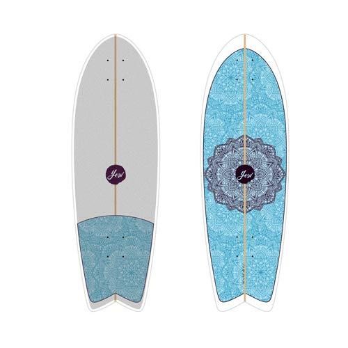 """Slide SURFSKATE Diamond BELHARRRA 32"""" surfskate PE19"""
