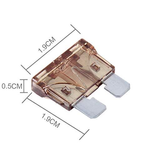 Preisvergleich Produktbild WanShiHengTong Auto GGR 100 PCS 12V Auto-Add-a-Schaltung Fuse Tap Adapter Blade-Sicherungshalter (Big Size) (Kaffee) Ersatz (Color : Coffee)