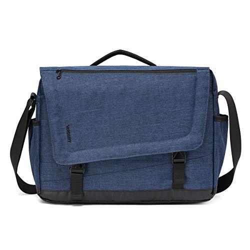 Messenger Bag for Men, Lightweight Water Resistant 15.6 Laptop Shoulder Bag for School Office by Vonxury Blue