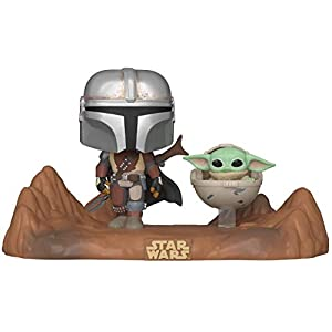 Funko Pop! Moment Star Wars: The Mandalorian - Mandalorian and The Child Vinyl Bobblehead - 41q5V7zzs5L - Funko Pop! Moment Star Wars: The Mandalorian – Mandalorian and The Child Vinyl Bobblehead