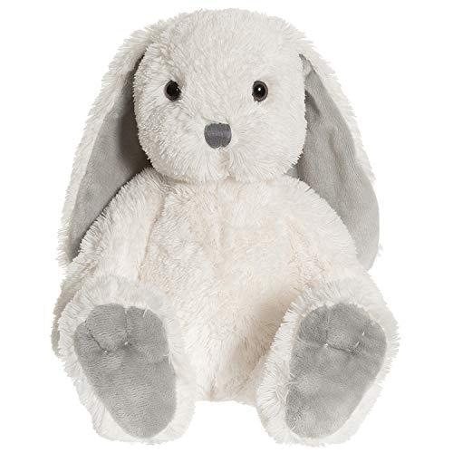 """Teddykompaniet 2821 Kuscheltier Kaninchen Plüschhase """"Nina"""" weiß – 35 cm – super Soft - Plüschtier für Babys – Stofftier Hase mit Schlappohren- ab Geburt"""