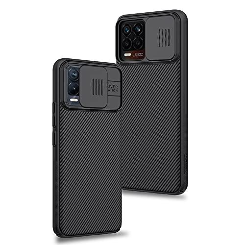 XTCASE Funda para Realme 8 Pro/Realme 8 4G, Protección de la cámara Carcasa Cubierta de cámara Deslizante Proteger Ultra-Delgado Híbrida PC Anti-Choque Anti-arañazos - Negro