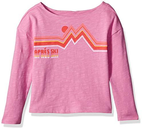 Gymboree Girls' Big Long Sleeve Casual Knit Top, mangenta Pink, S