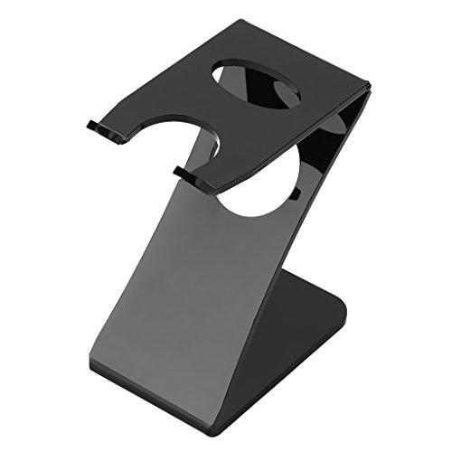 Sharplace Base de Rasoir en Acrylique Porte-brosse en Forme Z Pour Hommes de Sécurité Noir
