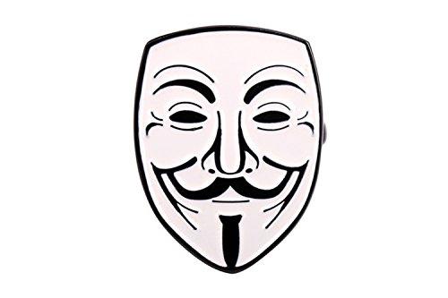 GuDeKe Guy Fawkes Anonyme Maske Internet Meme Revers Stifte Broschen und Manschettenknöpfe 2 Set