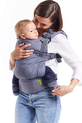 Porte-bébé Boba X - Sac à dos souple et structuré, réglable et micro-ajustable pour les bébés de 3 à 20 kilos (Grey)