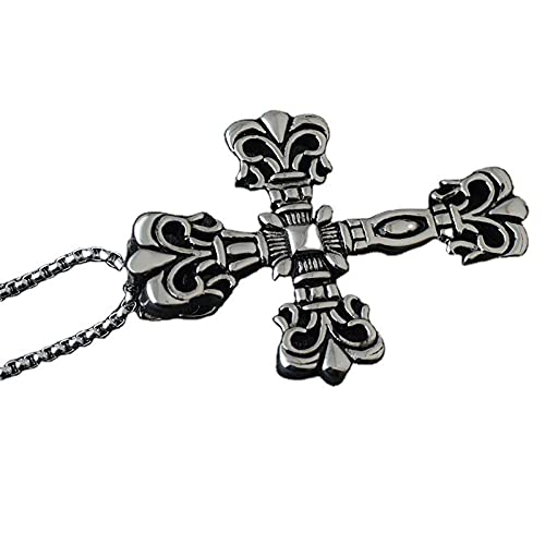 maozuzyy Collar Colgante Joyería Colgante Retro De Los Hombres De La Joyería De La Personalidad del Adorno del Acero Inoxidable del Collar De La Cruz