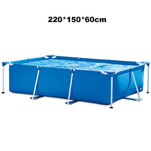 QINYUP Rechteckigen Pool, rechteckigen Röhrchenrack Pool, Kinder Bracket, Familienpool