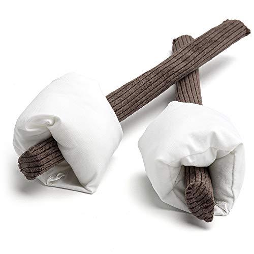 HUNIIHOME 2 x Removable Pretend Marshmallows on Sticks - Imaginary Play Fake Food - 4 Piece Set
