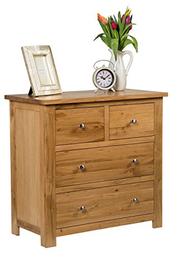 Hallowood Waverly 7 Chest of Drawers in Light Oak Finish   Solid Wooden Storage Unit, (WAV-CHE3-4)