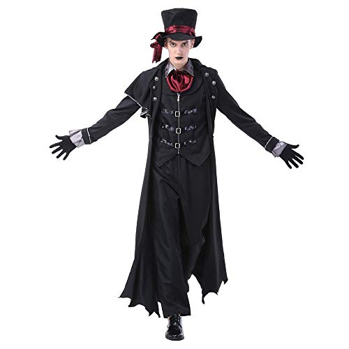 Halloween Lovers Vampier Kostuum Volwassen Cosplay Masquerade Stage Kostuum Duivel Kostuum Zombie pak Fancy Party