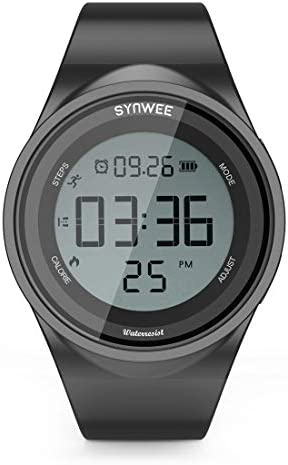 synwee Sports Pedometer Watch Fitness Tracker IP68 Water Resistant Non Bluetooth with Vibration product image