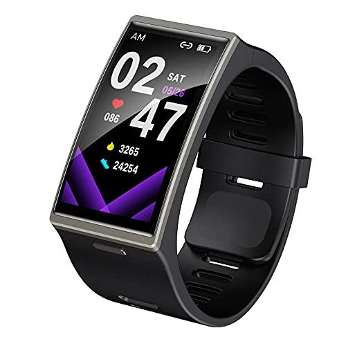 Yumanluo Smart Band Smart Watch,Monitorización del Movimiento del sueño del Ritmo cardíaco, Pulsera Elegante Impermeable de la Pantalla Grande-Negro,Pulsera Inteligente con Pulsómetro