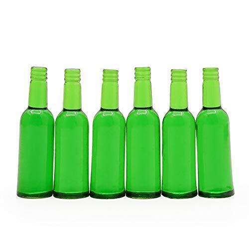Odoria 1/12 Miniatur 6 Stück Bierflaschen, Grün Puppenhaus Küche Zubehör