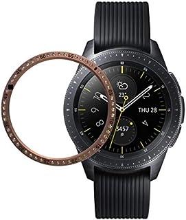 إكسسوارات الساعة الذكية لهاتف Samsung Gear S3 من الفولاذ المقاوم للصدأ + جراب ساعة ألماس بحافة فولاذية (أسود) (اللون : ذهب...