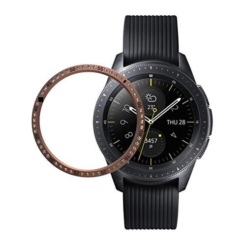 DACHENGJIN Serie de Relojes Inteligentes for Samsung S3 Engranaje de Acero Inoxidable + Diamante Caja de Reloj llanta de Acero (Negro) (Color : Rose Gold)