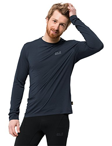 Jack Wolfskin Crosstrail Shirt a Manches Longues Homme, Night Blue, FR : S (Taille Fabricant : 2)