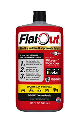 FlatOut 20130 Tire Sealant (Sportsman Formula), Great for ATVs, UTVs / Side-by-Sides, Golf Carts, Dirt Bikes, Off-Road-Only Jeeps and more, 32-Ounce, 1-Pack
