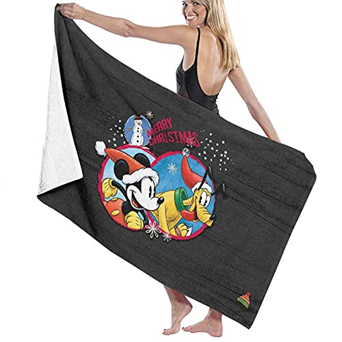 Toallas de baño de Mickey Mouse y Pluto the Pup, gruesas y suaves y cómodas, con exquisitos patrones impresos, adecuadas para salas de estar, playas y piscinas