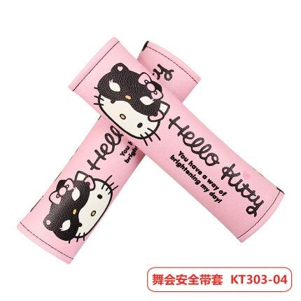 JSJJAUA Cubierta del Volante del Coche Accesorios para automóviles Dibujos Animados Pink Hello Kitty Wheeling Cover Natural Goma Saludable Transpirable Universal 38cm (Color Name : Silver)