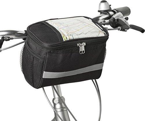Giving Fahrradtasche Lenker Reflektorstreifen Fahrradkorb Vorne Klett Kühltasche Fahrrad 21,5 x 12,0 x 15,0 cm Fahrradpacktasche