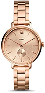ساعة فوسيل كوارتز للنساء - انالوج بعقارب بسوار ستانلس ستيل ES4571