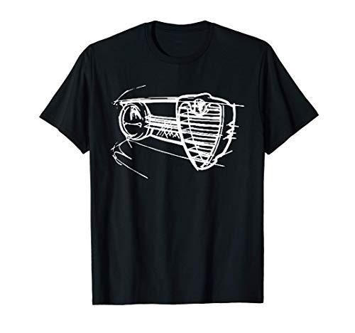 Conductores de automóviles Alfa Elegante parrilla de autos Camiseta