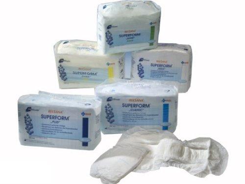 Meditrade Superform Exclusiv Maxi Beesana - 80 Inkontinenz Vorlagen für Erwachsene weiß 36 x 70 cm Saugleistung 2450 ml