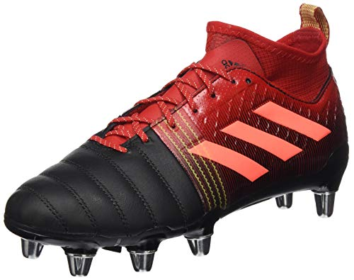 adidas Herren Kakari X-Kevlar 2 (SG) Rugby-Schuhe, CBLACK/SIGCOR/Scarle, 45 1/3EU