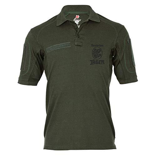 Copytec Tactical Poloshirt Alfa - Deutscher Jäger BW Abzeichen Jägertruppe Hemd Infanterie #18978, Größe:M, Farbe:Oliv