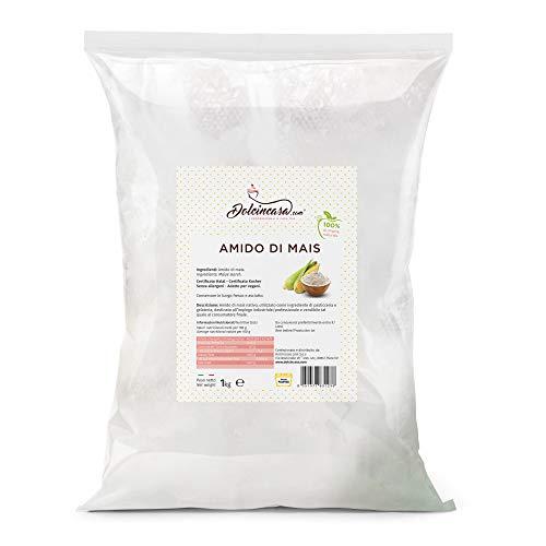 Amido di Mais in Polvere Puro al 100% senza glutine in Confezione da 1 kg
