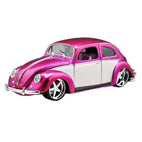 LIUCHANG Modelo de Coche uno y dieciocho 1951 Escarabajo Modificado aleación de Coches clásicos Modelo Exclusivo de colección Modelo (Color: Rosa, Tamaño: 23cm * 9cm * 8 cm) liuchang20