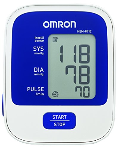 Omron 8712 Automatic Blood Pressure Monitor (White and Blue)